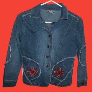 Vintage Denim Jean Jacket Girl Size 10